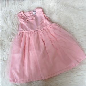 Carter's pink flower tulle dress